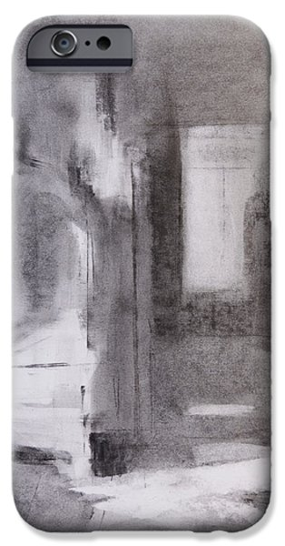 White Pastels iPhone Cases -  Interior 1 iPhone Case by Janet Goddard