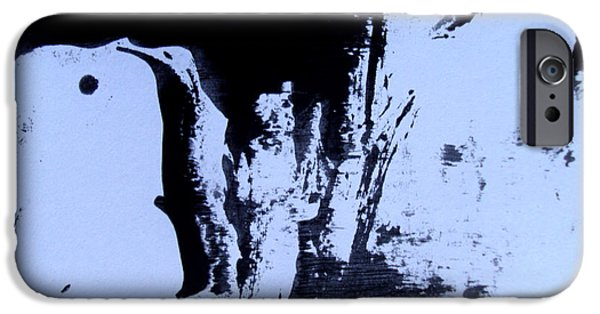Abstract Digital Drawings iPhone Cases -  It Is The World One Is Aware Of   The Faceless Neighbour  iPhone Case by Sir Josef  Putsche Social Critic