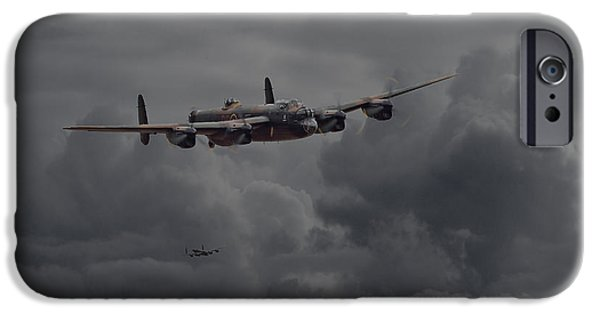 Raf iPhone Cases -  Lancaster - Heavy Weather iPhone Case by Pat Speirs