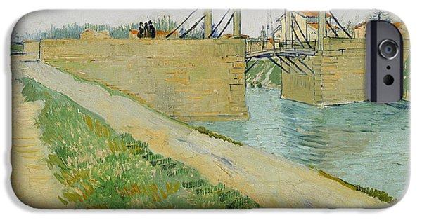 Langlois iPhone Cases -  Langlois Bridge  iPhone Case by Vincent van Gogh
