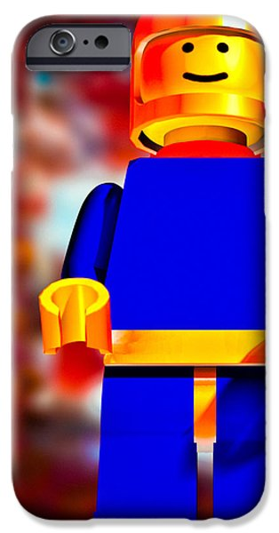 Lego Spaceman iPhone Case by Bob Orsillo