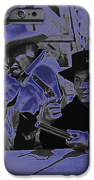 Leif Erickson and Cameron Mitchell  The High Chaparral Old Tucson Arizona 1969 iPhone Case by David Lee Guss