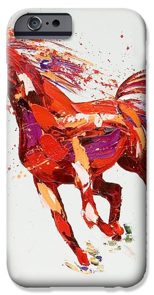 Wild Horse iPhone Cases -  LEspirit iPhone Case by Penny Warden