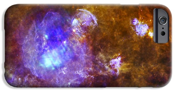 Stellar iPhone Cases -  Life and Death in a Star-Forming Cloud iPhone Case by Adam Romanowicz