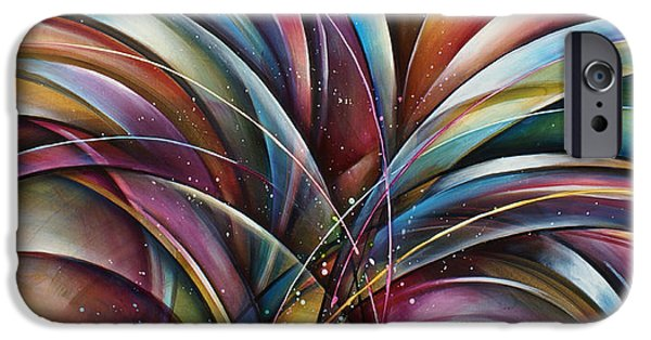 Abstract Movement iPhone Cases -  Lilys Song 2 iPhone Case by Michael Lang