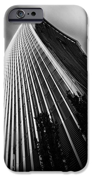 Monochrome iPhone Cases -  London Walkie Talkie Skyscraper iPhone Case by Ian Hufton