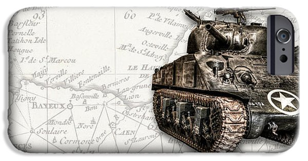 Fury iPhone Cases -  M4 Sherman Tank iPhone Case by Weston Westmoreland