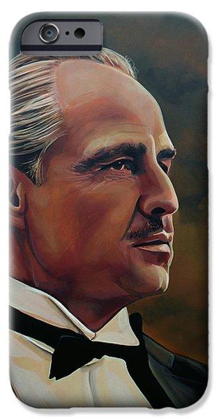One iPhone Cases -  Marlon Brando iPhone Case by Paul Meijering
