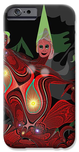 Fallen Angels iPhone Cases -  Mayhem - 442 ... iPhone Case by Irmgard Schoendorf Welch
