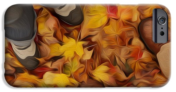 Women Together Digital iPhone Cases -  Meeting In Autumnal Park iPhone Case by Igor Kislev
