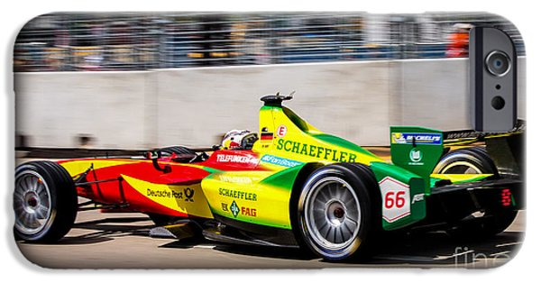 Michelin iPhone Cases -  Miami ePrix Street Race iPhone Case by Rene Triay Photography