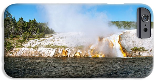 Forest iPhone Cases -  Midway Geyser Basin  Yellowstone National Park iPhone Case by Oleksandr Koretskyi