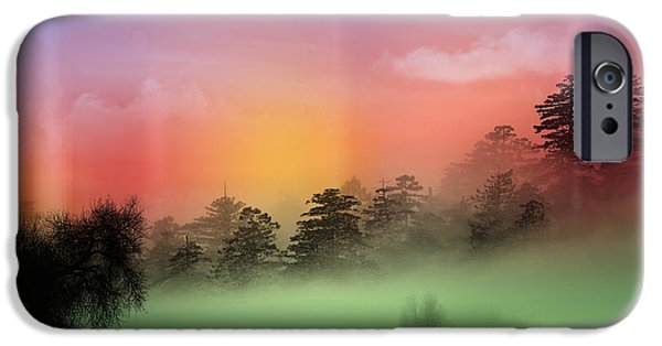 Animation iPhone Cases -  Mist Coloring Day iPhone Case by Mark Ashkenazi