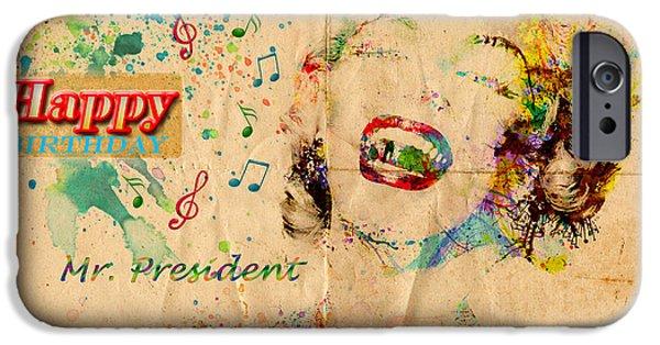 President iPhone Cases -  Happy Birthday Mr President iPhone Case by Gillian Singleton