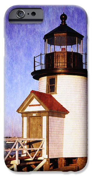 Lighthouse iPhone Cases -  Nantucket Harbor Light House iPhone Case by Heinz G Mielke