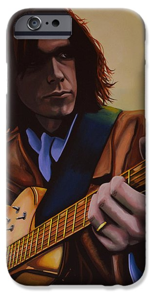 Neil Young  iPhone Case by Paul  Meijering