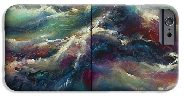 Recently Sold -  - Abstract Expressionism iPhone Cases -  Neptunes Palette iPhone Case by Michael Lang