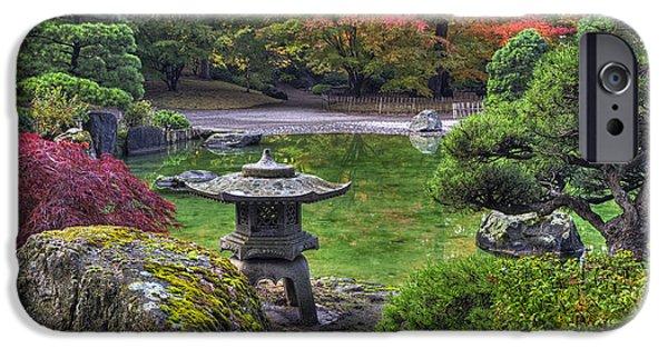 Spokane iPhone Cases -  Nishinomiya Japanese Garden -Japanese Lantern iPhone Case by Mark Kiver