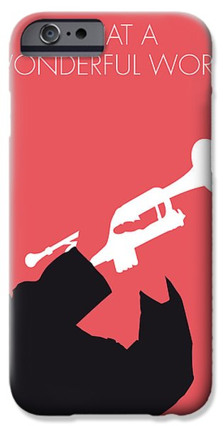 Wonderful iPhone Cases -  No012 MY LOUIS ARMSTRONG Minimal Music poster iPhone Case by Chungkong Art