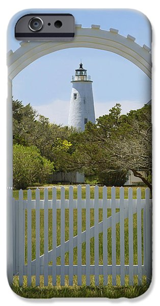 Ocracoke Island Lighthouse iPhone Case by Mike McGlothlen