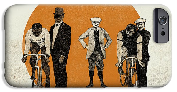 Printmaking Drawings iPhone Cases -  Old Time Trial iPhone Case by Eliza Southwood