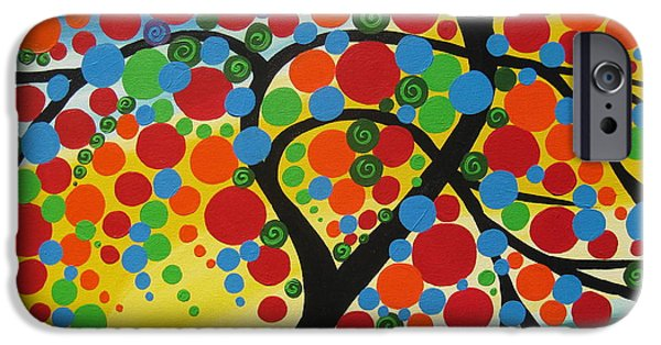 Living With Joy iPhone Cases -  Orb Tree  iPhone Case by Cathy Jacobs