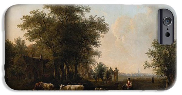 1876 Paintings iPhone Cases -  Outskirts Of The Farm iPhone Case by Willem De Klerk