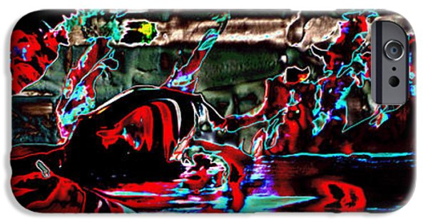 Celebrities Art iPhone Cases -  Paraphilia For Blood Part One iPhone Case by Sir Josef  Putsche