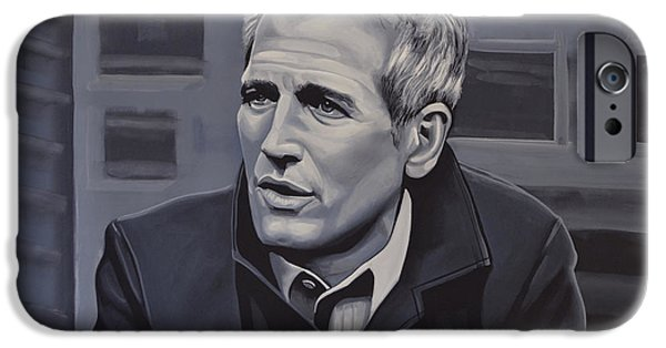 Paul Meijering iPhone Cases -  Paul Newman iPhone Case by Paul  Meijering