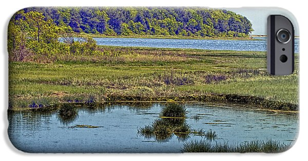 Mashpee iPhone Cases -  Picturesque Pinquickset Cove On Popponesset Bay iPhone Case by Constantine Gregory