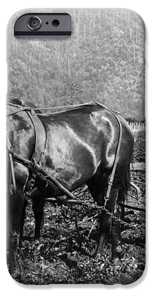PLOWING the LAND c. 1890 iPhone Case by Daniel Hagerman