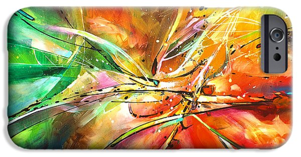 Abstract Movement iPhone Cases -  POINT of NO RETURN iPhone Case by Michael Lang