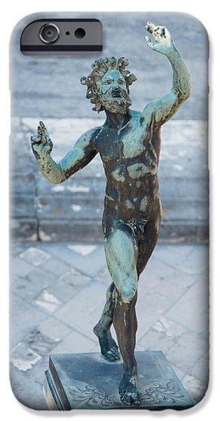 Historic Site iPhone Cases -  Pompeii Art - House of Faun iPhone Case by Zina Zinchik
