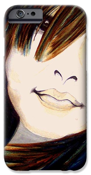 Portrait of a Woman iPhone Case by Janine Riley