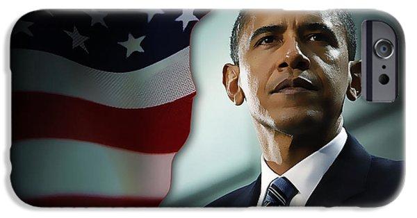 President Obama iPhone Cases -  President Barack Obama iPhone Case by Marvin Blaine