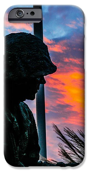 Sunset Sculptures iPhone Cases -  Pride and Proud iPhone Case by Jeff Lantz