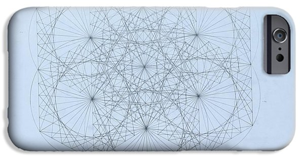 Fractal Drawings iPhone Cases -  Quantum Snowflake iPhone Case by Jason Padgett