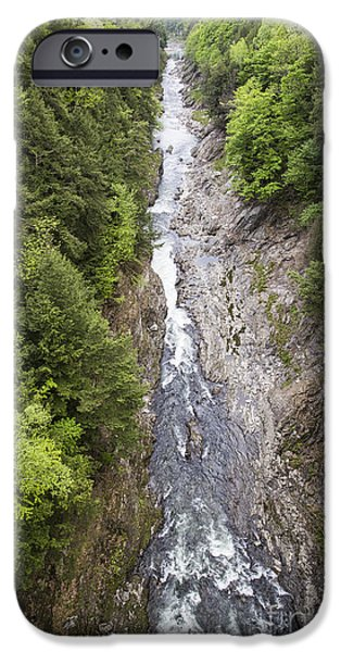 Drama iPhone Cases -  Quechee Gorge Quechee Vermont iPhone Case by Edward Fielding