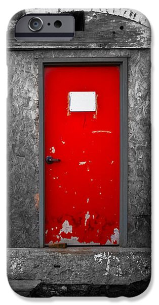 Red Door Perception iPhone Case by Bob Orsillo