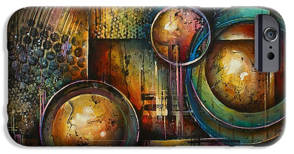 Geometric Design iPhone Cases -  Remaining Elements iPhone Case by Michael Lang