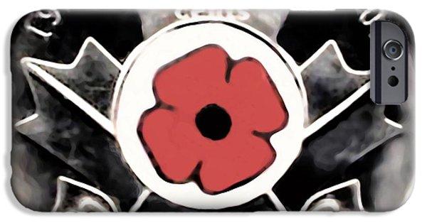 World War One iPhone Cases -  Remember Armistice Jour Du Souvenir  iPhone Case by Danielle  Parent