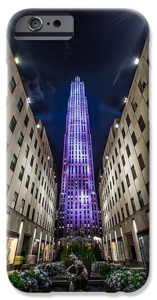 Hudson River iPhone Cases -  Rockefeller Center - New York - New York - USA 3 iPhone Case by Larry Marshall