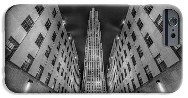 Hudson River iPhone Cases -  Rockefeller Center - New York - USA 2 iPhone Case by Larry Marshall
