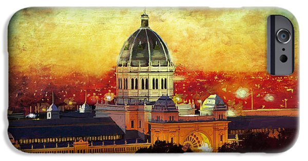 Exhibition iPhone Cases -  Royal Exhibition Building iPhone Case by Catf