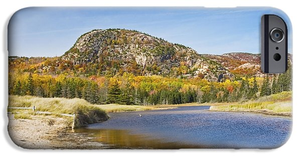 Maine iPhone Cases -  Sand Beach - Beehive - Acadia National Park - Fall - Maine iPhone Case by Keith Webber Jr