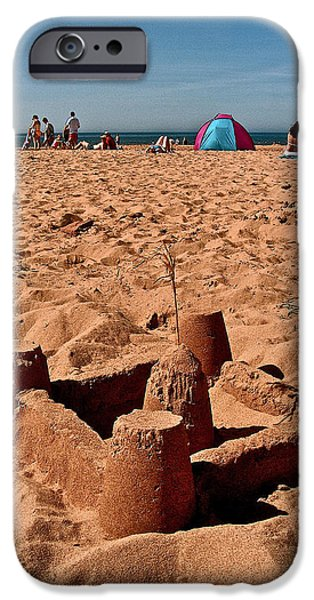 Sand Castles Digital Art iPhone Cases -  Sand Castle on Cavendish Beach in PEI National Park iPhone Case by Ruth Hager