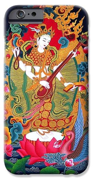 Saraswati 3 iPhone Case by Lanjee Chee