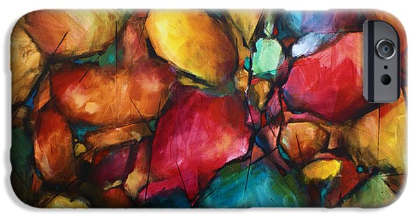 Abstract Expressionist iPhone Cases -  Setting iPhone Case by Michael Lang