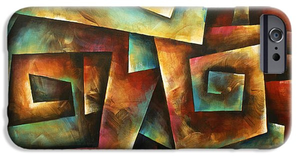 Staircase Paintings iPhone Cases -  Shuffle iPhone Case by Michael Lang