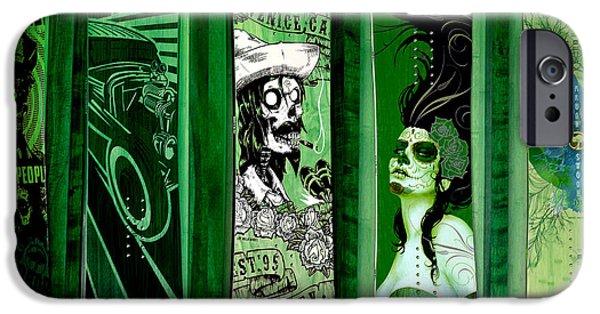 Skateboard iPhone Cases -  Skateboards Fern Green iPhone Case by Fraida Gutovich